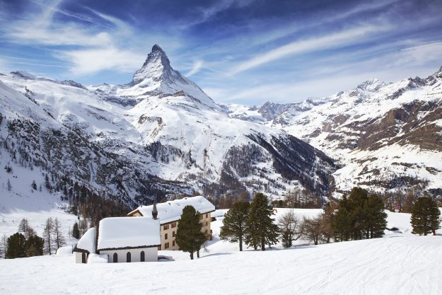 The Matterhorn as viewed from Zermatt.