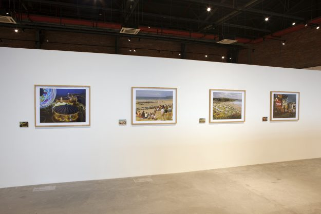 The John Hinde Collection's prints in Work, Rest, Play: British Photography from 1960s to Today at the OCT-Loft in Shenzhen last year.