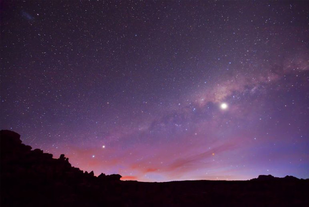 Venus and the Milky Way.