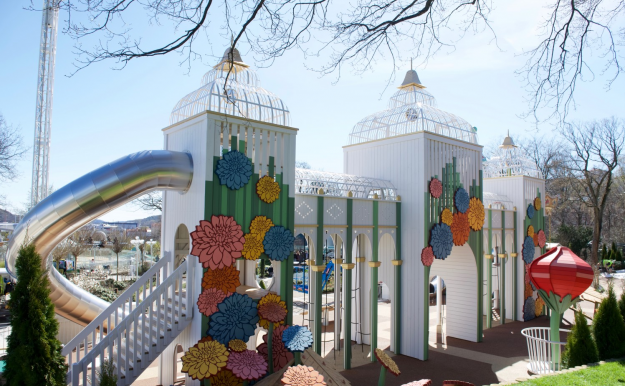 The playground was inspired by the Victorian architecture of the surrounding Tivoli gardens.