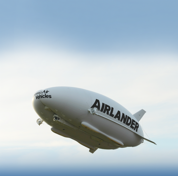 The Airlander 10 during a very early initial test flight in America back in 2012. The completed vessel is due to fly for the first time in the coming months.