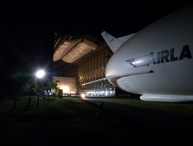 The Airlander 10 left it's hanger at Cardington Airfield for the first time last weekend.