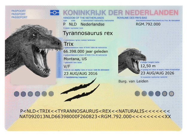 Fossil issued dinosaur passport as its shipped to the netherlands trix the dinosaurs passport ccuart Choice Image