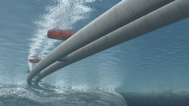 Rendering of the submerged tunnel that would have to be created to strict safety guidelines.