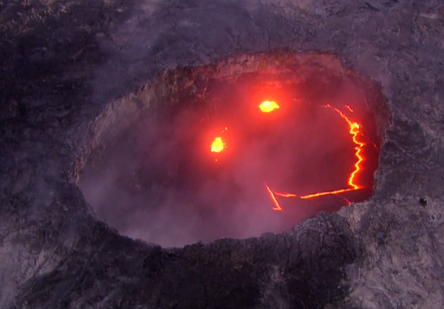 mysterious smiley face appears in erupting hawaiian volcano