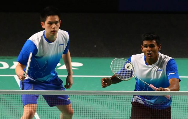Matthew Chau and Sawan Serasinghe were defeated in Rion: Image: Badminton World Federation
