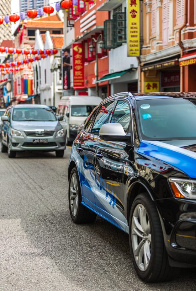 The British company has partnered with the Singapore Land Transport Authority to develop a driver-less system of the future.