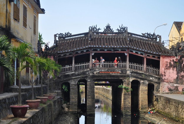 The iconic bridge at the centre of Hoi An is 400 years old and is in need of urgent deconstruction and restoration