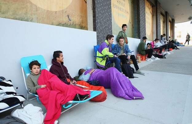 People queue outside the shop on Bondi Beach Australia as Kanye West Opens 21 Temporary Pablo Stores Around The World