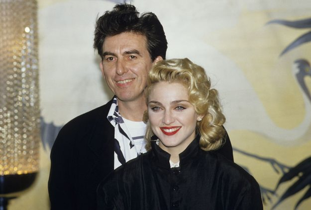 Madonna and George Harrison promoting their movie 'Shanghai Surprise' 1986.