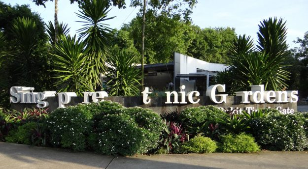 The Singapore Botanic Gardens has removed the blood type letters A, B and O from the entrance signs.