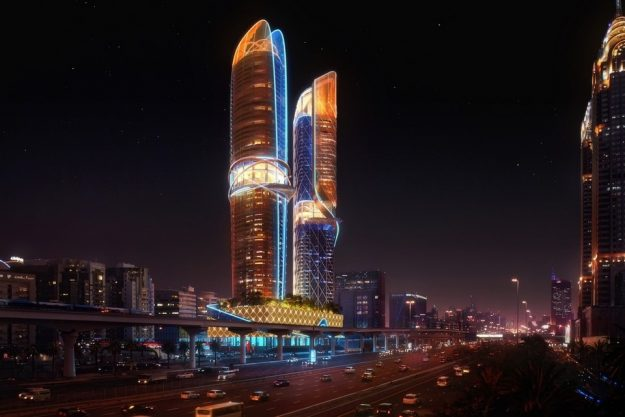 The Rosemont Hotel & Residences in Dubai will have its own rainforest. Image: Hilton Worldwide and Royal International
