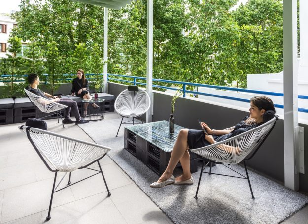 The guest terrace at COO.