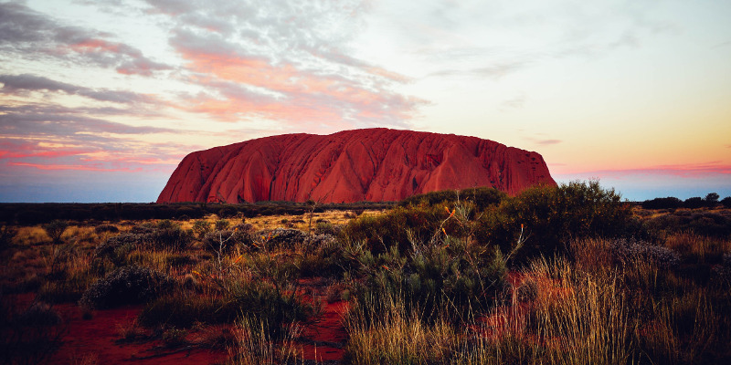 Uluru (or Ayers Rock) in Australia.