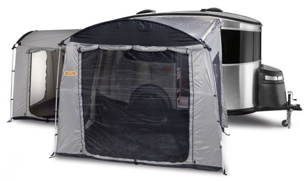 Further sleeping areas and storage can be added on with the addition of tents.