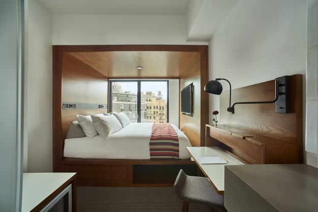 A room in the new Arlo hotel.