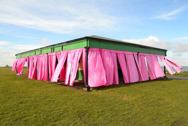 The Blushing Pavilion is part of a new event that aims to inspire ideas for the future of Margate Coastal Park. Image: Margate Coastal Park Promotion Group