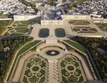 The Palace of Versailles from above.