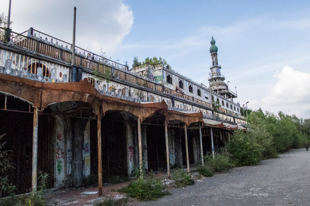 The abandoned town of Consonno in northern Italy.