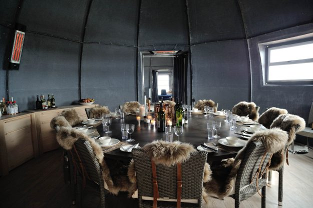 Inside the 'Game of Thrones' dining room.