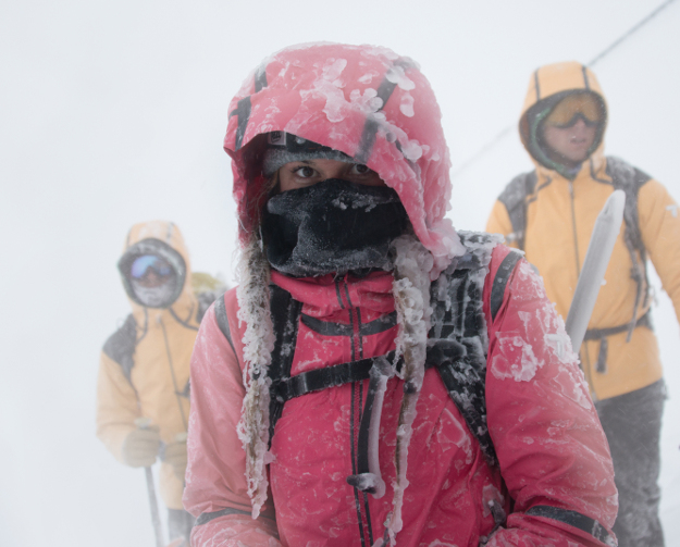 Columbia's Directors of Toughness on Mt. Hood in Oregon.