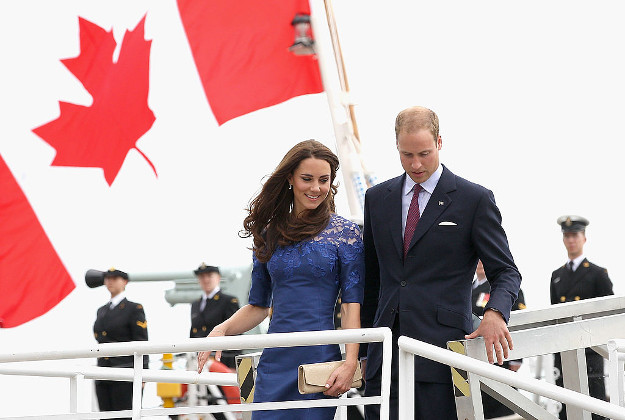 Prince William, Duke of Cambridge and Catherine, Duchess of Cambridge on their trip to Canada in 2011.