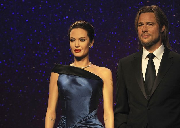 Madame Tussauds have separated the wax figures of Brad Pitt and Angelina Jolie following their marriage break-up Image: Ferdaus Shamim/WireImage