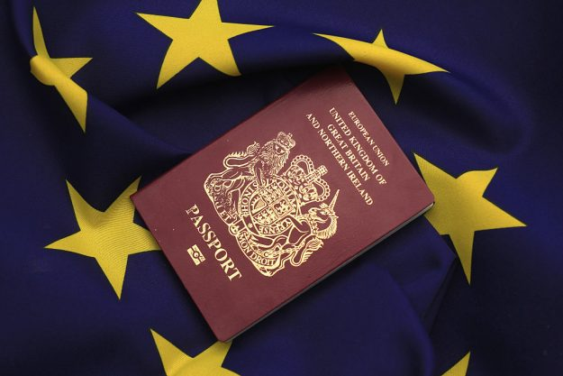 Following Brexit, the British Home Office is considering changing its passport colour as the burgundy colour represents the EU. Image: Christopher Furlong/Getty Images