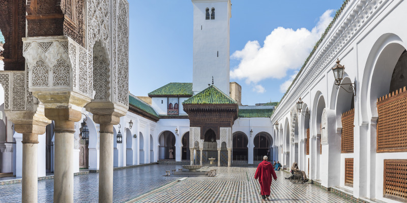 Al-Qarawiyyin Mosque and university in Fez.