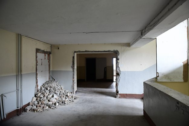Inside view of the heritage-protected Prora Complex that is being turned into vacation apartments.