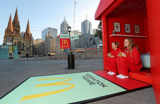 mcdonalds monopoly hotel is seen at federation square on september 7 2016 in melbourne