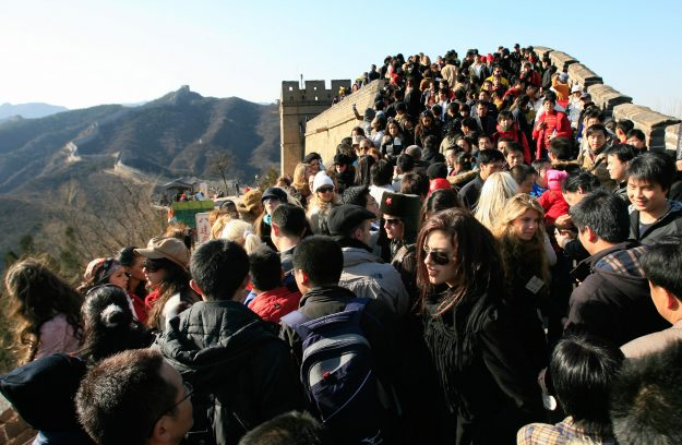 China is to build the world's deepest high-speed rail station under the Badaling section of the Great Wall of China. Image: Teh Eng Koon/AFP/Getty Images