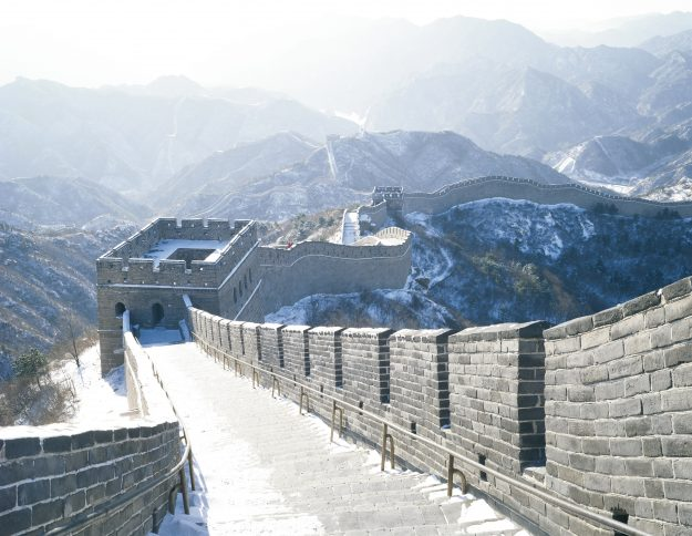 Snow scene of Badaling Great Wall in Beijing. Image: Fotosearch/Getty Images/Fotosearch RF
