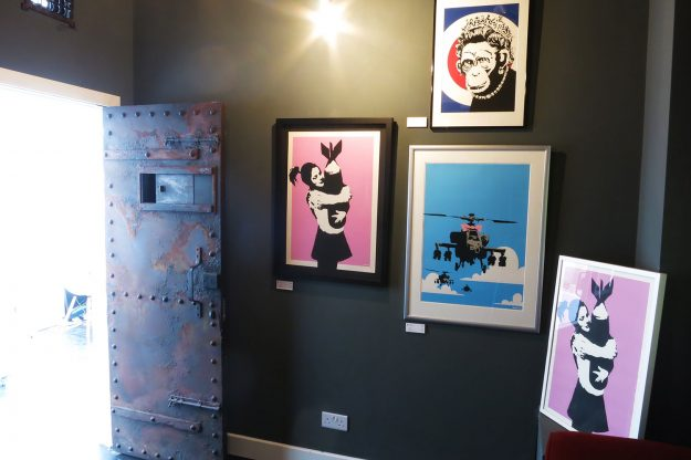 """Named, """"The Banksy Bunker"""", the collection has signed and unsigned prints by the artist."""