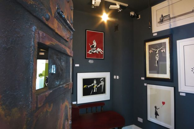 The Banksy Bunker is open to the public during gallery hours.