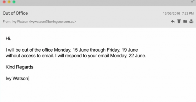 Qantas has introduced a new out of office travelogue function - Out of the office message ...