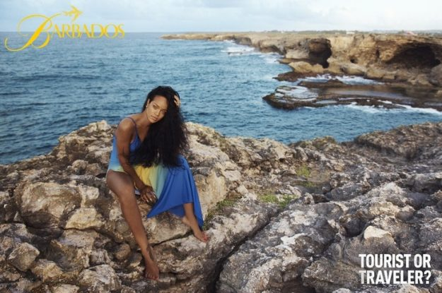 Pop star Rihanna took part in a 2013 tourism campaign in Barbados. Image: Barbados Tourism Authority