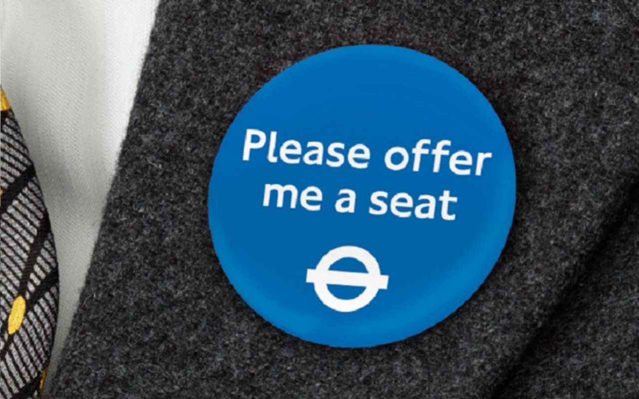 A new scheme is being trialled on London transport to help make it easier for people with hidden disabilities to access seats. Image: Transport for London