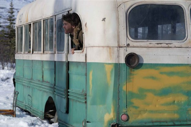 A still from the film Into The Wild featuring Emile Hirsch as Christopher McCandless.