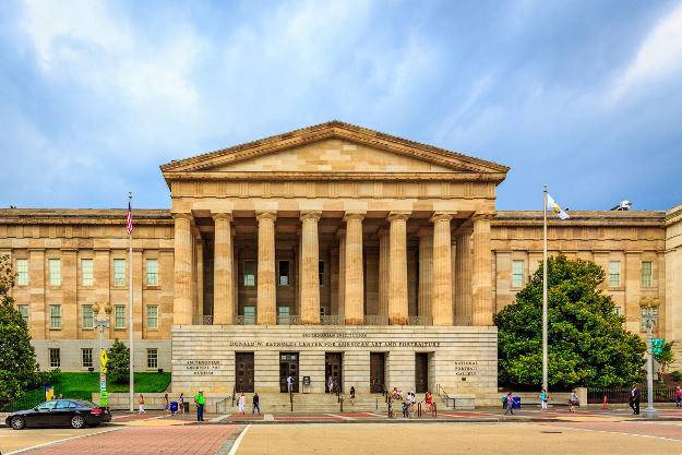 The Smithsonian American Art Museum and National Portrait Gallery are both housed in the historic Old Patent Office Building.