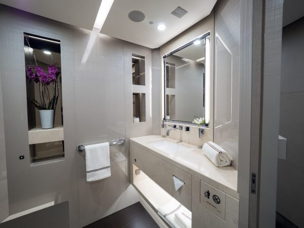 A luxury bathroom on board the 787 Jet,