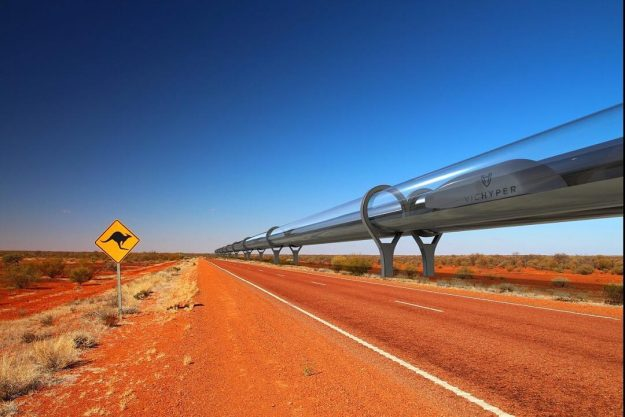 The proposed Hyperloop Australia could look like this.