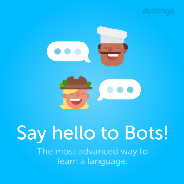 The company announced the Duolingo chatbots yesterday.