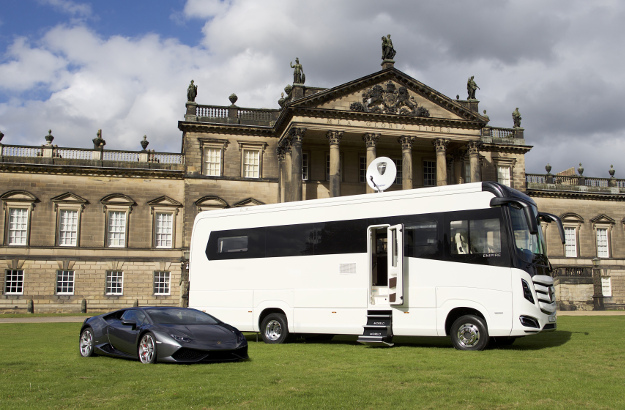The motorhome. COPYRIGHT PICTURE>>SHAUN FLANNERY>01302-570814>>07778315553>> 6th October 2016 Morelo Empire Line Motorhome Location: Wentworth Woodhouse