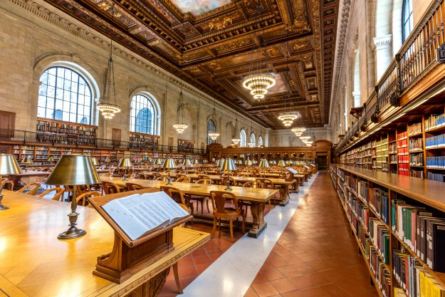 Historic Rose Reading Room At The New York Public Library
