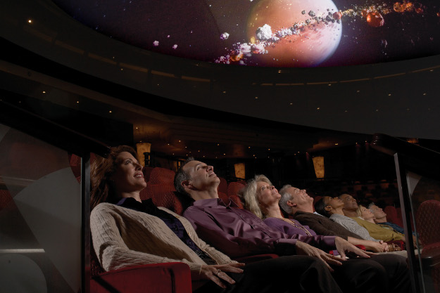 The planetarium aboard the Queen Mary 2.