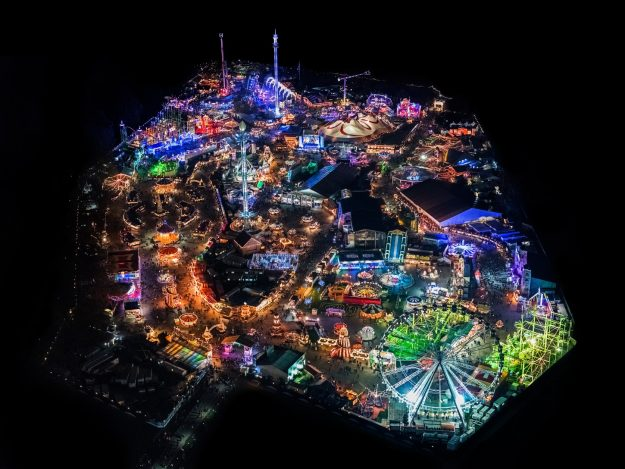 Hyde Park Aerial Photography night