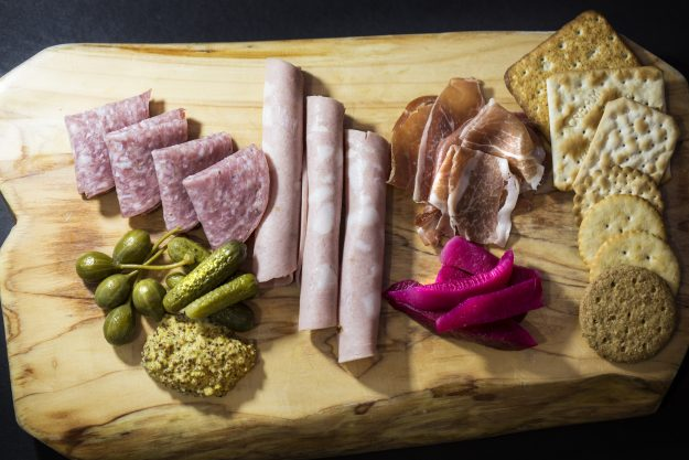 A charcuterie selection for Blu2o at Terminal 6.