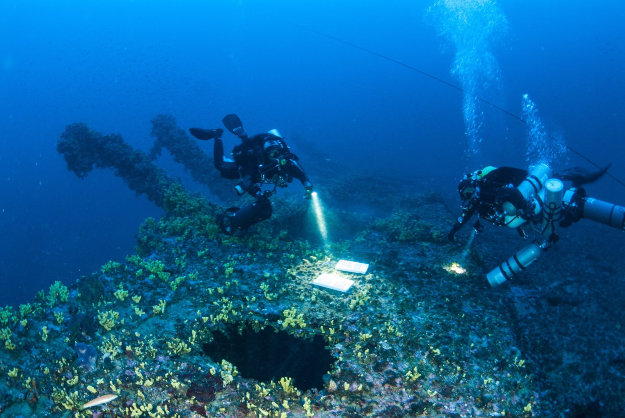 Locals hope to turn the Britannic into a diving attraction.