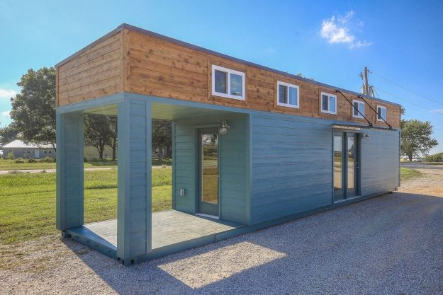 Converted shipping containers are cosy holiday homes in missouri - Are shipping container homes safe ...